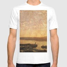 Calm Harbour White MEDIUM Mens Fitted Tee