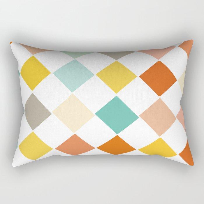 Color Check Rectangular Pillow