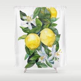 lemon tee Shower Curtain