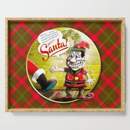 Here's Santa! Serving Tray