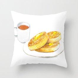 Crumpets Throw Pillow