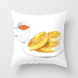 Crumpets Throw Pillow