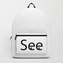 See creative typography design Backpack