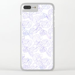 Monstera (White Glow) - Lavender Clear iPhone Case