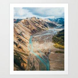 Iceland Melt Art Print
