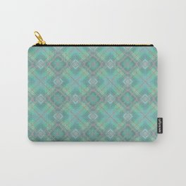 Blue green plaid . Carry-All Pouch