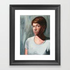 She Who Stares Framed Art Print