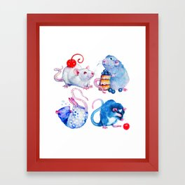 Sweet Rats Framed Art Print