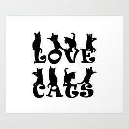 Love Cats #1 Art Print