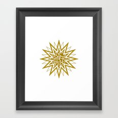 Star (gold) Framed Art Print