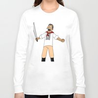 simpsons Long Sleeve T-shirts featuring Andres Bonifacio Simpsons Style by Cesar Cueva