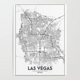 Minimal City Maps - Map Of Las Vegas, Nevada, United States Poster