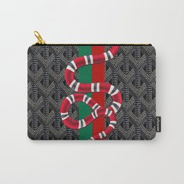 Black Guuci Carry-All Pouch