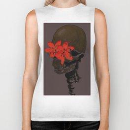Skull with Flower Eyes Dark Biker Tank