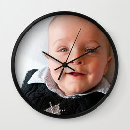 Portrait Of A Smiling Baby Boy Wall Clock