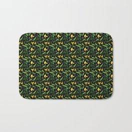 Greens and Yellow vegetable Bath Mat