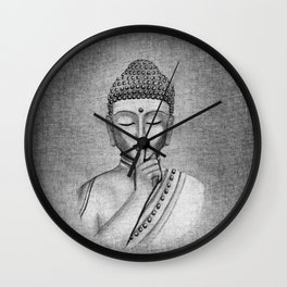 Shh... Do not disturb - Buddha Wall Clock