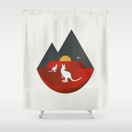 The Australian Outback Shower Curtain