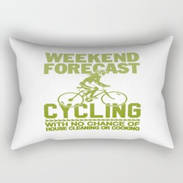 WEEKEND FORECAST CYCLING Rectangular Pillow