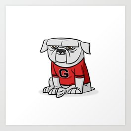 Bulldog from Georgia Art Print