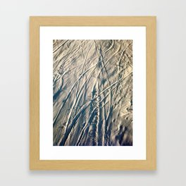 Shred Lines on the Mountain Framed Art Print