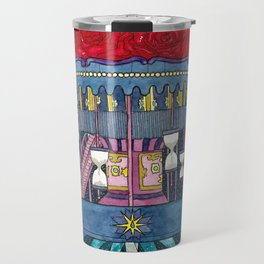 Carousel of Roses Travel Mug