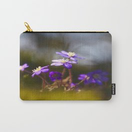 Sweetest Spring Blossom Hepatica Forest #decor #society6 Carry-All Pouch