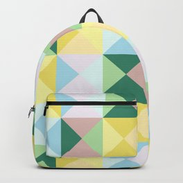 colorful geometrical classic retro Okubi Backpack