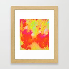 Warm Coral Orange Abstract Framed Art Print