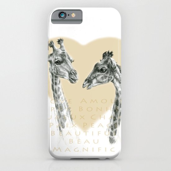 Giraffes love G055bis iPhone & iPod Case