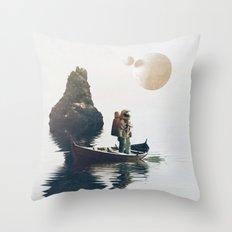 Searching Land Throw Pillow