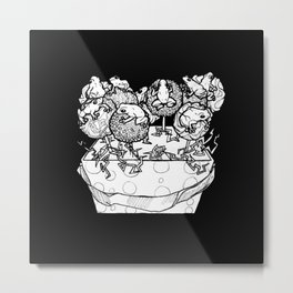 cake pop frog box Metal Print