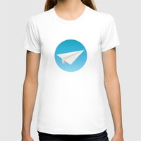 planes T-shirts featuring Paper Planes by Elle Moz