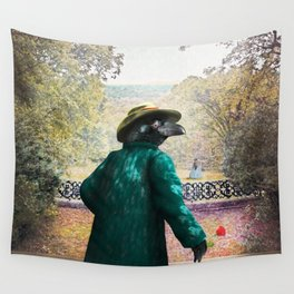 Ronaldo Raven on his way to a Romantic Rendezvous Wall Tapestry