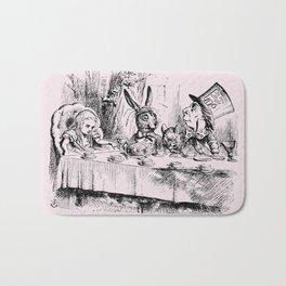 Blush pink - mad hatter's tea party Bath Mat