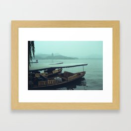 Down by the lake Framed Art Print