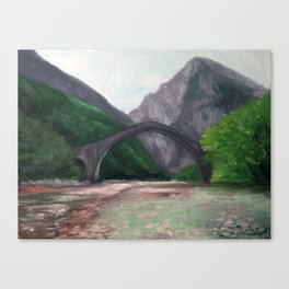 The Bridge of Plaka—Greece Canvas Print