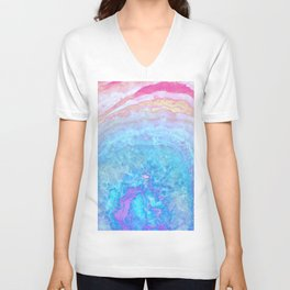 Into The Ether Agate Geode Unisex V-Neck