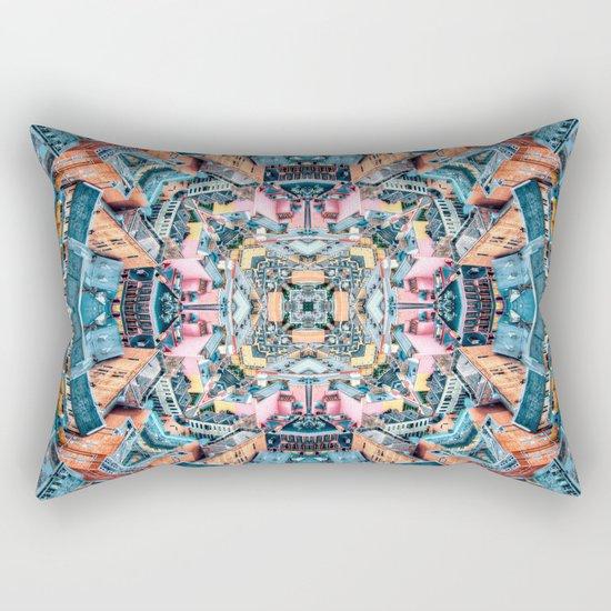 City In A Circle Rectangular Pillow