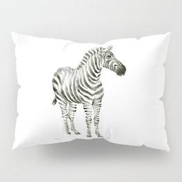 Zebra Watercolor Baby Animals Pillow Sham
