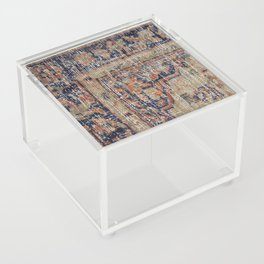Vintage Woven Blue Acrylic Box