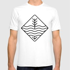 Still Waters Run Deep White SMALL Mens Fitted Tee