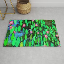 Homage to Ponds, Lilies and Lily Pads Rug
