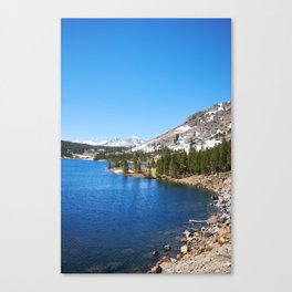 Tioga Pass to Yosemite valley National Park   Photography Canvas Print