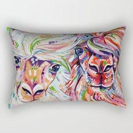 Hello - Alpaca Painting Rectangular Pillow