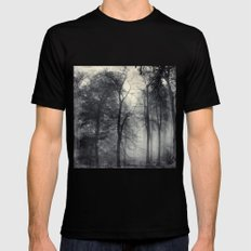 realm of shades MEDIUM Mens Fitted Tee Black