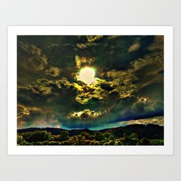 Storm on the Rise Art Print