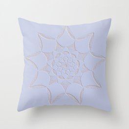 Dot Mandala Light Purple - 3D Pointilism Throw Pillow