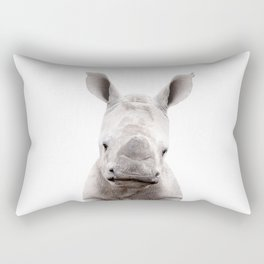 Baby Rhino Portrait Rectangular Pillow