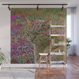 Abstract Cat Wall Mural